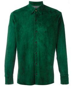 STOULS | Plain Shirt Medium Leather/Spandex/Elastane/Polyamide