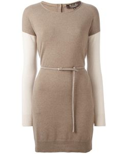 Loro Piana | Belted Knit Dress 42 Cashmere/Suede