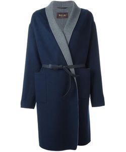 Loro Piana | Belted Coat Large Polyester/Cashmere/Leather