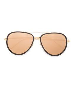 Linda Farrow | Aviator Shaped Sunglasses Metal