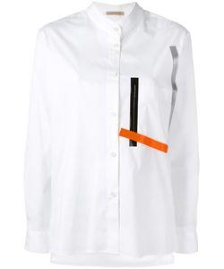 Christopher Kane | Poplin Striped Pocket Shirt 40 Cotton/Nylon/Spandex/Elastane