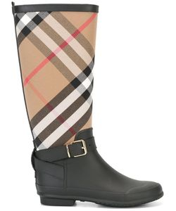 Burberry | House Check Boots 35 Cotton/Rubber 403835111765656