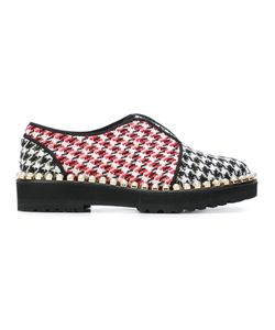 Suecomma Bonnie | Houndstooth Pattern Loafers 41 Acrylic Fibre/Polyester/Rubber
