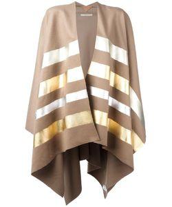 ERMANNO GALLAMINI   Striped Cape Cashmere/Virgin Wool