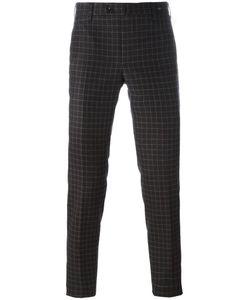Pt01 | Checked Skinny Fit Trousers 48 Virgin Wool/Spandex/Elastane