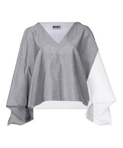 Issey Miyake | Colour Block Cropped Blouse 2 Polyester/Cotton