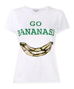 Natasha Zinko | Go Bananas Print T-Shirt Small Cotton/Spandex/Elastane