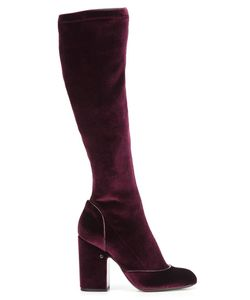 Laurence Dacade | Pull-On Knee Length Boots 36.5 Leather/Velvet