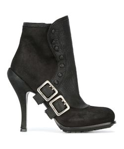Christian Dior Vintage   Buckled Booties 38.5 12680411760975