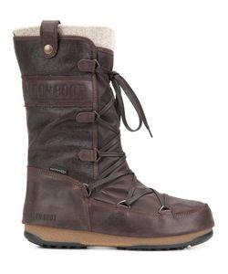 Moon Boot | We Monaco Mix Boots 39.5 Leather/Wool