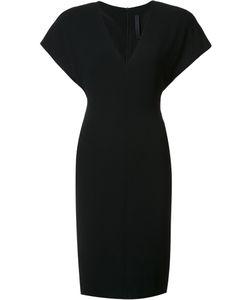 Gareth Pugh | Wide Shoulder Fitted Dress 42 Polyester