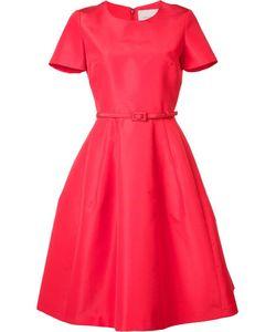 Carolina Herrera | Belted Fla Dress 6 Silk