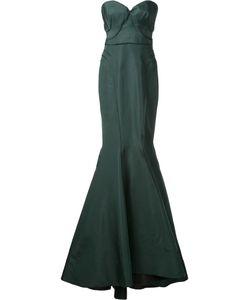 Zac Posen   Bustier Gown 6 Silk