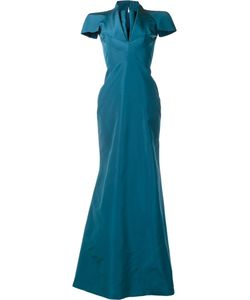 Zac Posen | V-Neck Gown 4 Silk