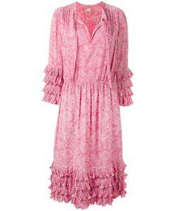 Celine Vintage   Céline Vintage Print Midi Dress 38