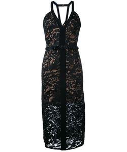 GINGER & SMART | Orbital V-Neck Dress 10 Nylon/Polyester