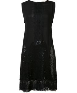 LOYD/FORD | Sequined Detailing Shift Dress 6 Silk