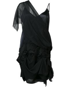 LOYD/FORD | Single Sheer Shoulder Dress 6 Silk