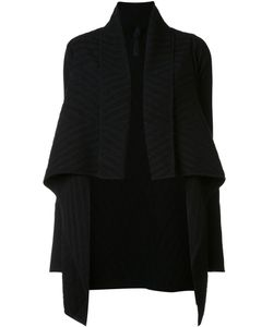 Gareth Pugh | Jacquard Draped Cardi-Coat Small Wool