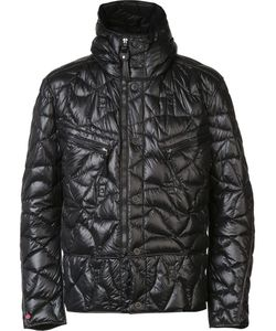 KRU | Quilted Hooded Jacket Large Polyester/Feather Down