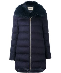 Herno | Fur Collar Padded Coat 46 Silk/Cashmere/Polyamide/Feather Down