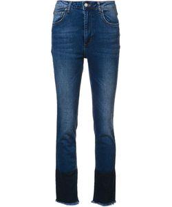 ANINE BING   Cropped Frayed Jeans 28 Cotton/Elastodiene