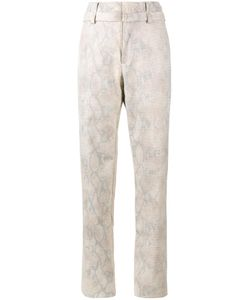 Y / PROJECT | Snakeskin Print Trousers 46 Cotton/Acetate/Polyurethane/Polyester