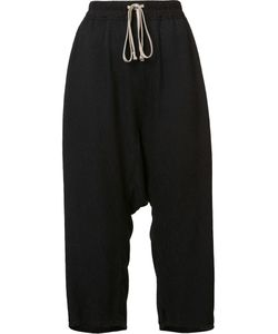 Rick Owens | Textured Cropped Trousers 44 Silk/Cotton/Viscose