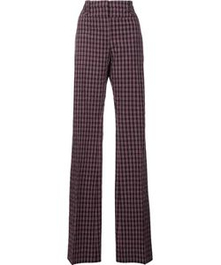 Altuzarra | Straight Plaid Trousers 36 Polyester/Cotton/Spandex/Elastane