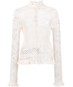 Magda Butrym | Salta Knit Blouse 34 Cotton/Polyamide/Silk