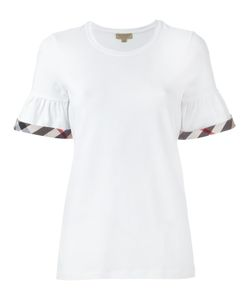 Burberry   Checked Detailing T-Shirt Xl Cotton/Spandex/Elastane