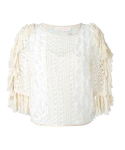 See By Chloe | See By Chloé Fringed Open Knit Top 38