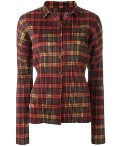 ISSEY MIYAKE VINTAGE | Checked Pleated Shirt Small