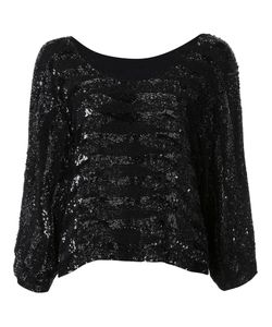 LOYD/FORD | Embellished Sequined Blouse 4 Rayon