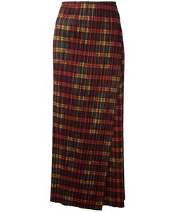 ISSEY MIYAKE VINTAGE | Checked Wrap Maxi Skirt Small