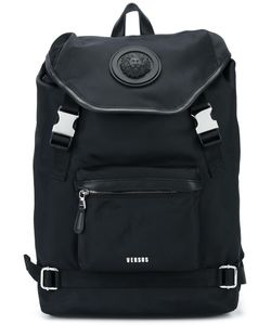 Versus | Strap Fastening Backpack Nylon/Calf Leather/Cotton