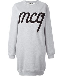 Mcq Alexander Mcqueen | Logo Patch Sweatshirt Dress Small