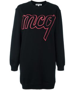 Mcq Alexander Mcqueen | Logo Patch Sweatshirt Dress Medium