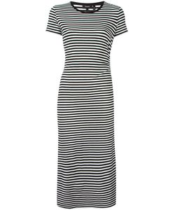 Theory | Striped Midi Dress Medium Viscose/Spandex/Elastane