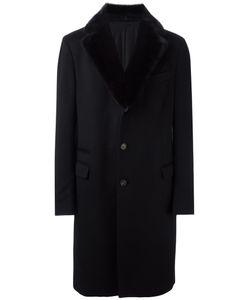 Salvatore Ferragamo | Fur Lapel Coat 54 Cupro/Rabbit Fur/Cashmere