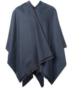 ERMANNO GALLAMINI   Two-Tone Cape Virgin Wool