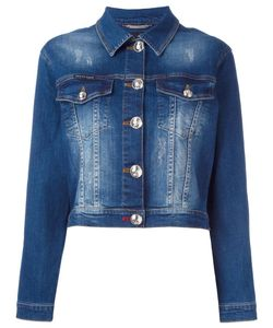 Philipp Plein | Crystal Embellished Denim Jacket Medium Cotton/Spandex/Elastane
