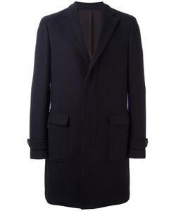 Salvatore Ferragamo | Single Breasted Check Coat 52 Wool/Cupro