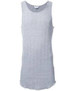 Unused | Ribbed Detailing Long Tank 4 Cotton