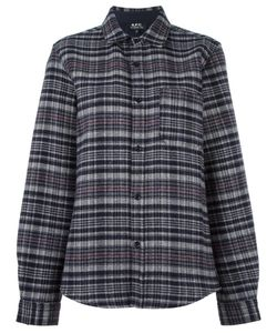 A.P.C. | Checked Shirt Small Virgin Wool/Polyamide/Cotton