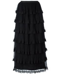 Red Valentino | Layered Ruffled Skirt 38 Polyester