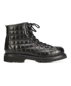 Buttero | Quilted Lace Up Ankle Boots 39.5 Leather/Rubber