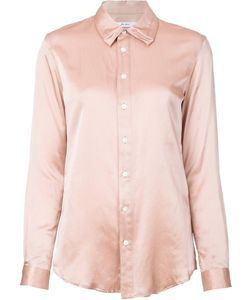 Julien David | Soft Satin Shirt Small Silk/Cotton