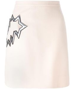 Christopher Kane | Smash Pocket Skirt 44 Silk/Polyurethane/Acetate/Virgin Wool
