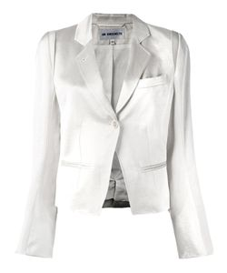 Ann Demeulemeester | Blanche Glossy Effect Cropped Jacket 40